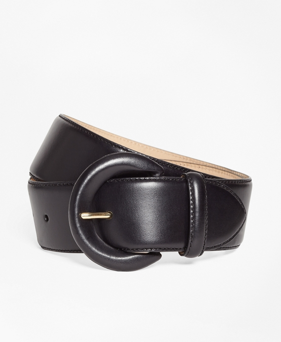 Wide Leather Waist Belt