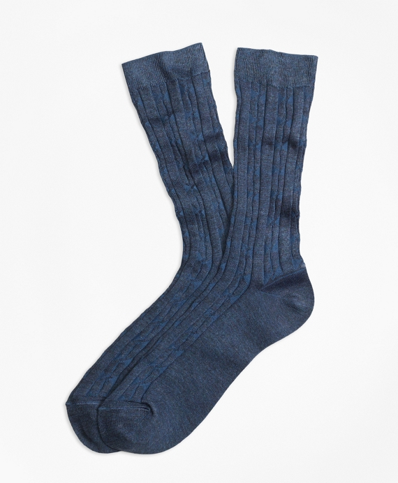 Cable Crew Socks Navy