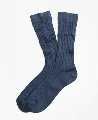Cable Crew Socks