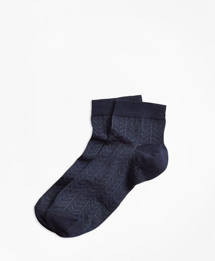 Cotton Open-Knit Chevron Socks