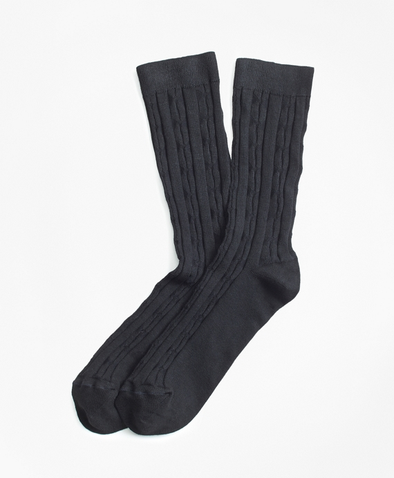 Cable-Knit Socks