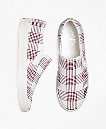 Plaid Canvas Sneakers