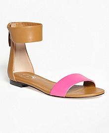Color-Block Ankle-Strap Sandals
