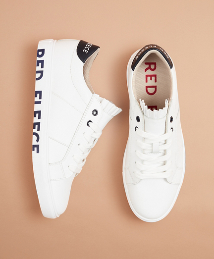 Logo-Graphic Color-Block Leather Low-Top Sneakers