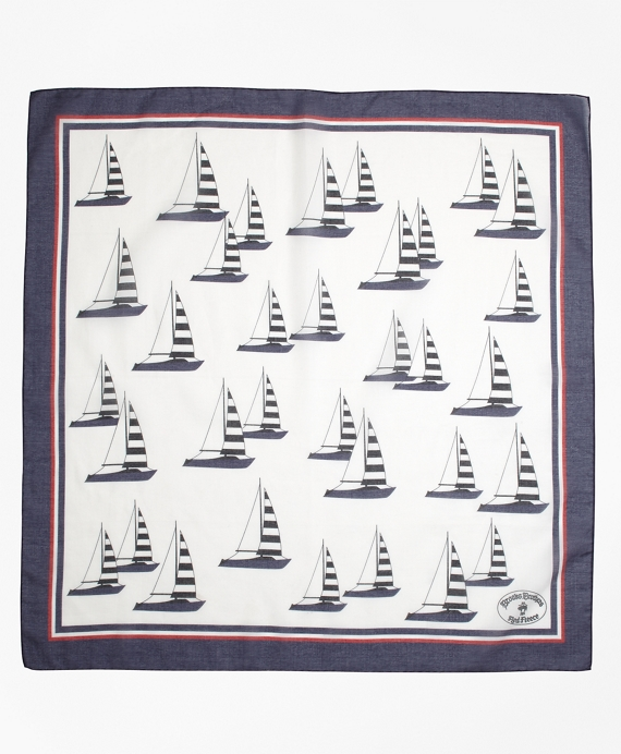 Cotton Sailboat Scarf