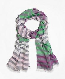 Multi Stripe Cotton Scarf