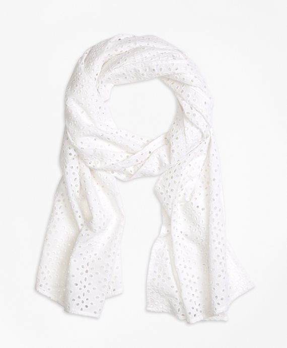 Cotton Eyelet Scarf