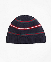 Merino Wool Stripe Hat