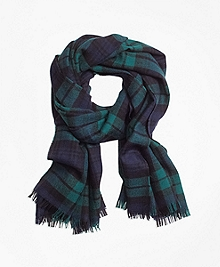 Double-Faced Black Watch Scarf