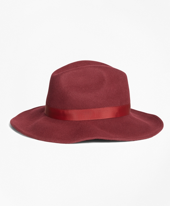 Felted Wool Fedora Burgundy