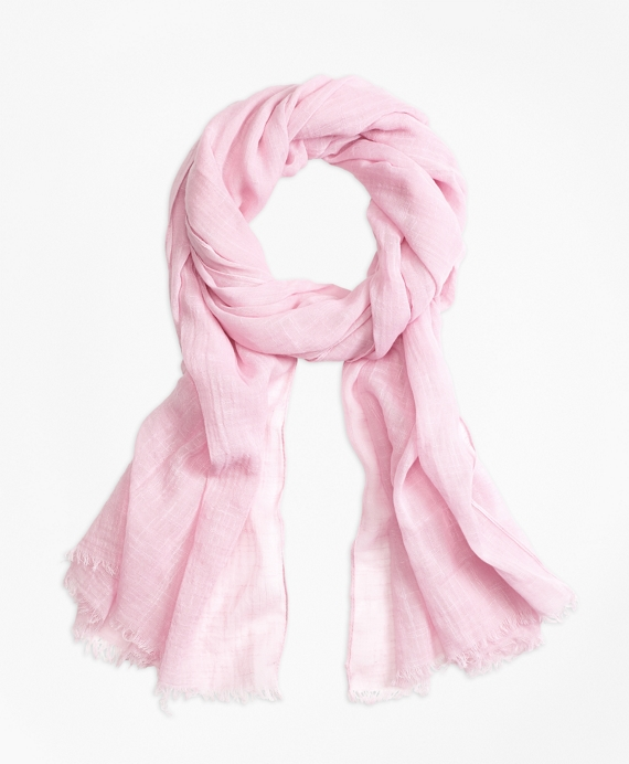 Cotton Oblong Scarf Light Pink