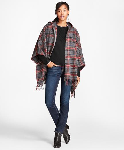Tartan Wool Poncho