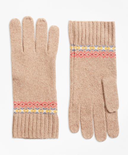 Merino Wool-Blend Fair Isle Gloves