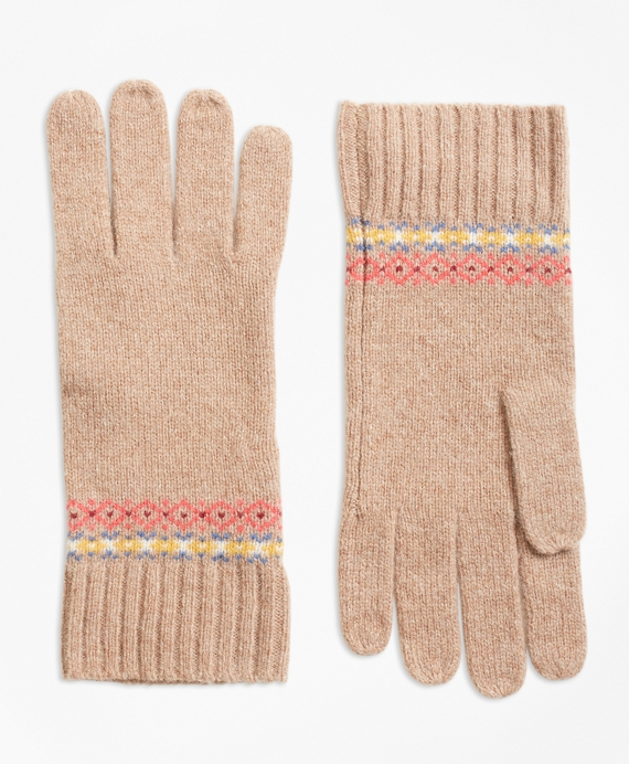 Merino Wool-Blend Fair Isle Gloves