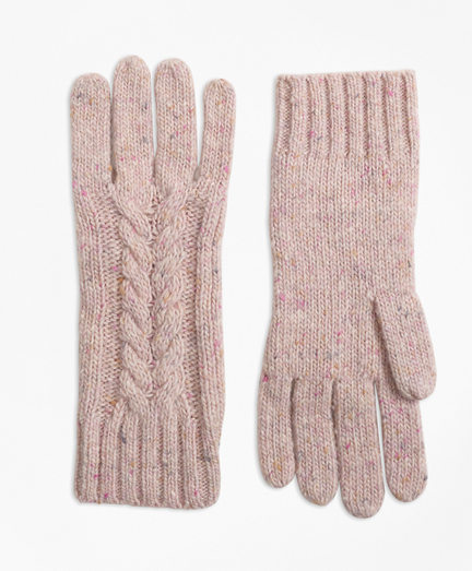 Cable-Knit Alpaca-Wool-Blend Gloves