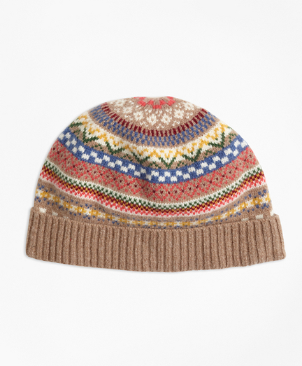 Merino Wool-Blend Fair Isle Hat
