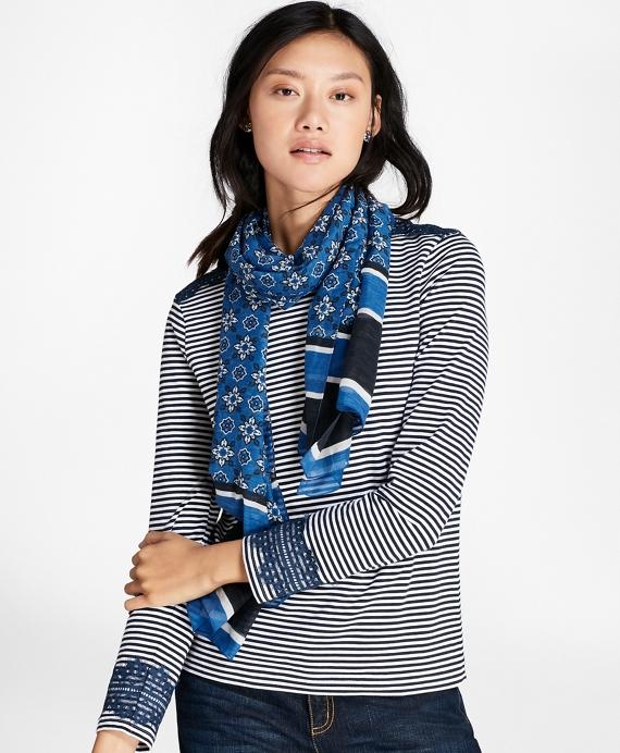 Foulard Silk-Cotton Oblong Scarf