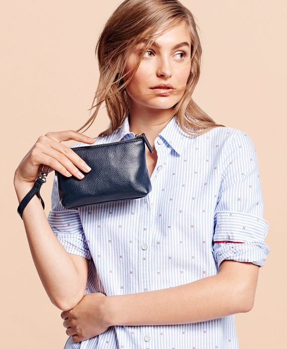 Pebble Leather Clutch