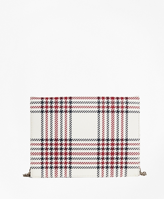 Plaid Leather Clutch