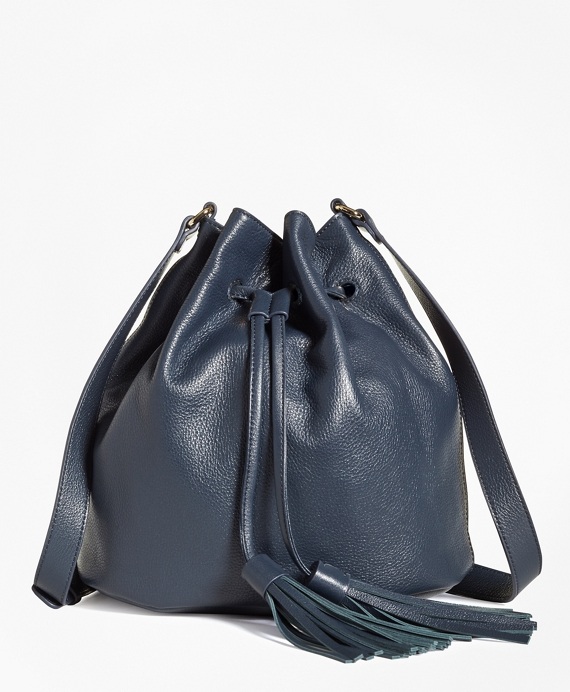 Calfskin Bucket Bag Navy