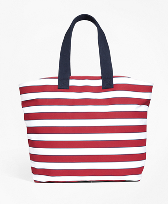Stripe Canvas Tote Bag