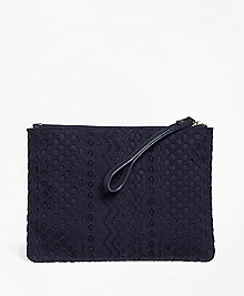 Eyelet Cotton Clutch