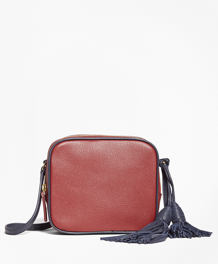Tasseled Leather Cross-body Bag