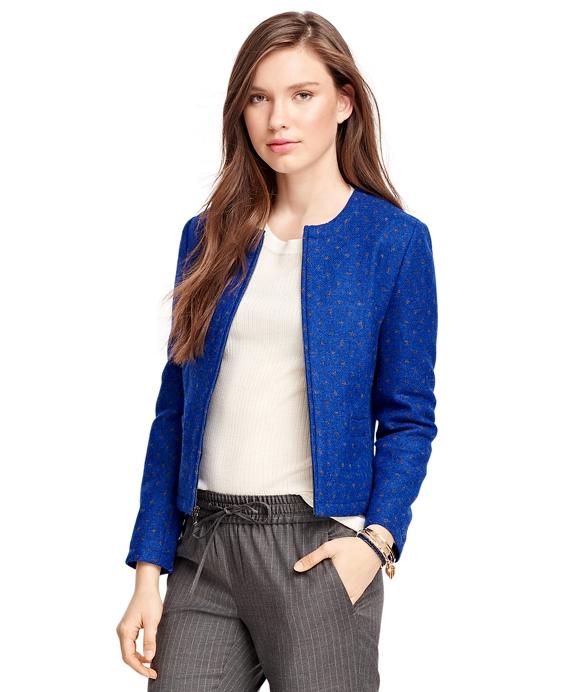 Wool Polka Dot Jacket Blue