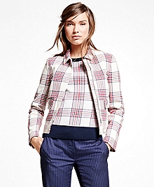 Cotton Large Plaid Jacket