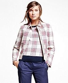 Cotton Large Plaid Jacket