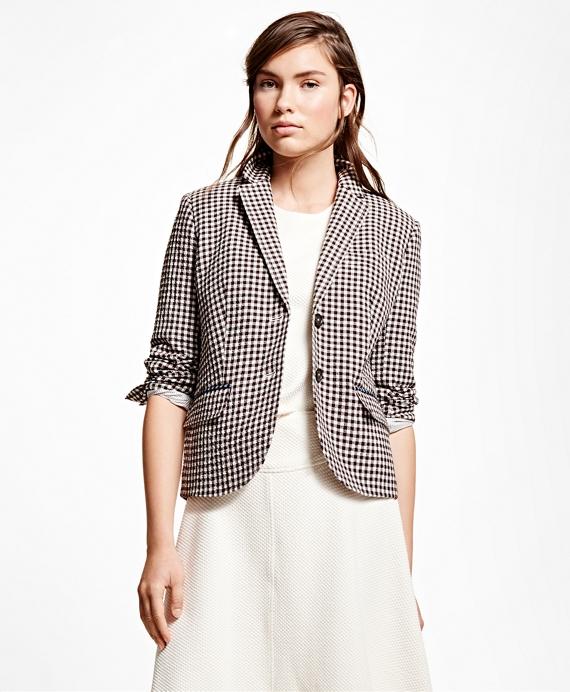 Wool Blend Gingham Jacket