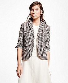 Wool Blend Gingham Jacket
