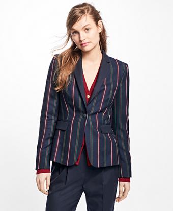 Striped Wool Blazer