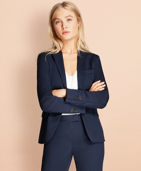 Stretch Wool Two-Button Jacket