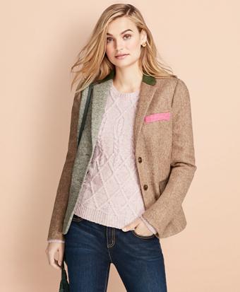 Patchwork Wool Tweed Jacket