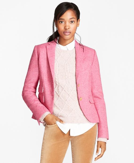 Wool Tweed Jacket Pink