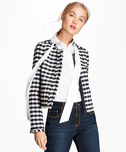Gingham Boucle Jacket