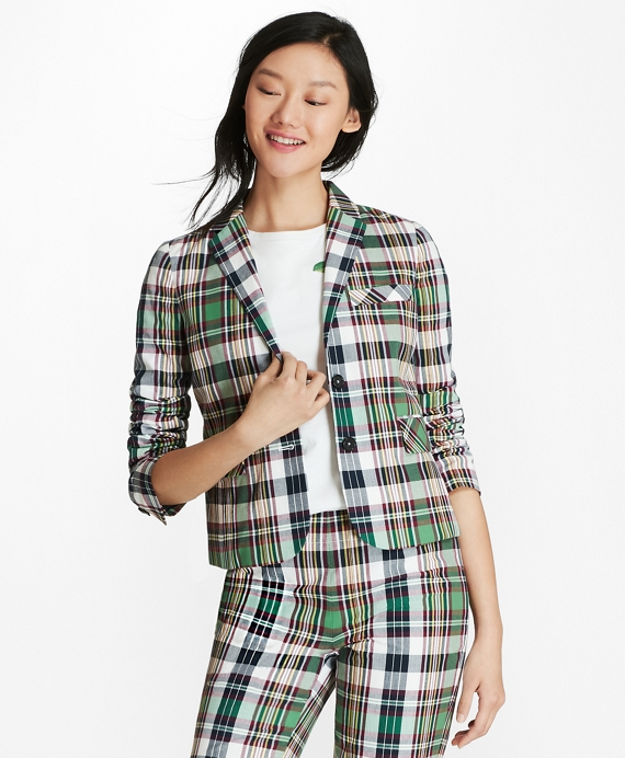 Madras Cotton Jacket Green-Multi