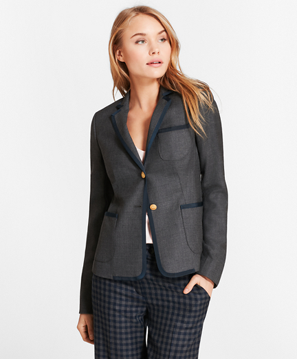 Wool Twill Rowing Blazer