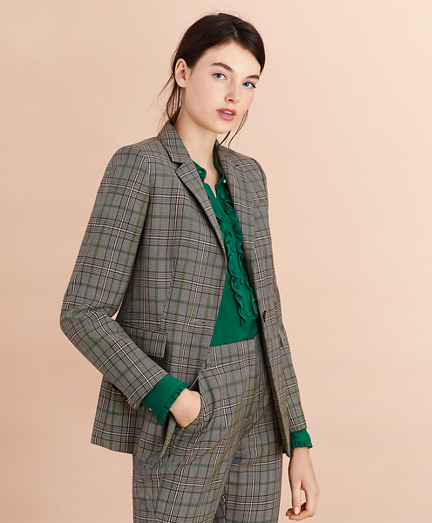 Plaid Wool Tweed Jacket