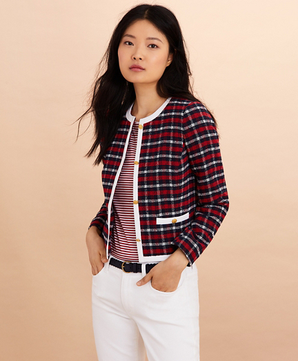Checked Boucle Jacket