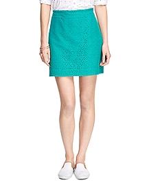 Cotton Lace A-Line Skirt