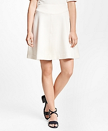 Cotton Stretch Jacquard Skirt