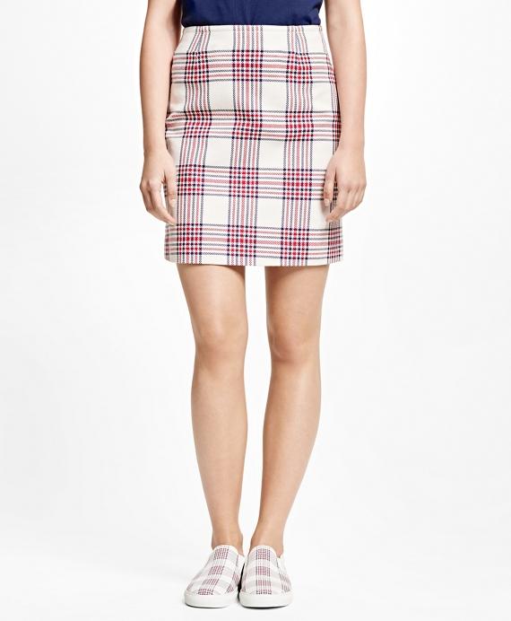 Cotton Large Plaid Skirt
