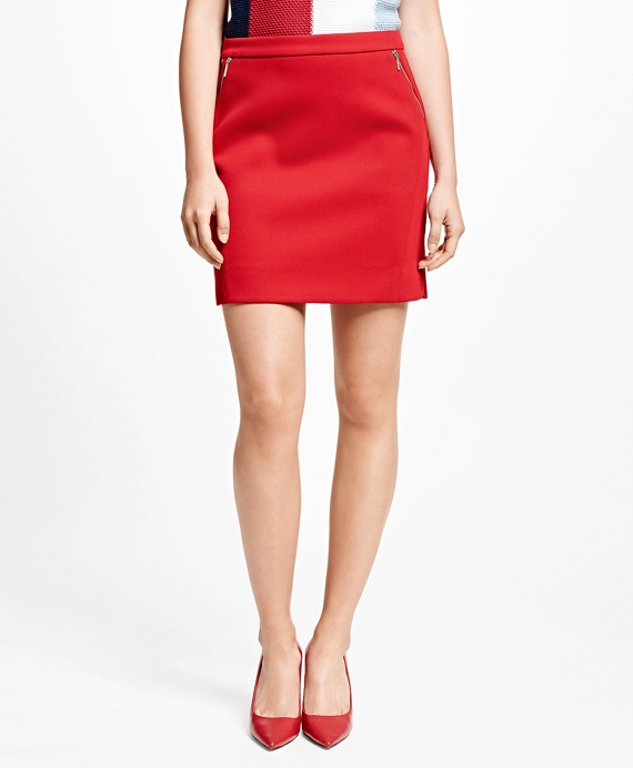 Twill Skirt Red