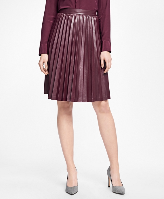 Pleated Skirt Burgundy