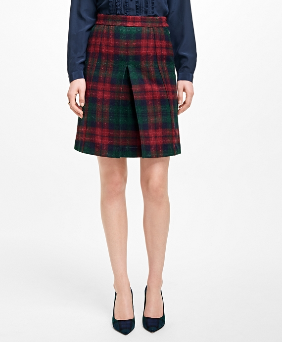 Tartan Wool Skirt Red-Green