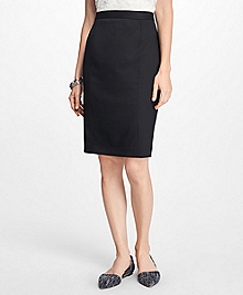 Wool-Twill Pencil Skirt