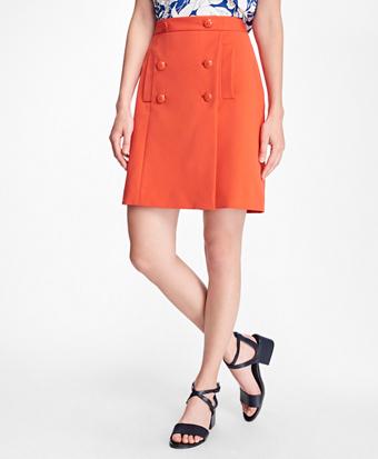 Cotton Twill Sailor Skirt