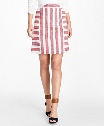 Striped Boucle Skirt